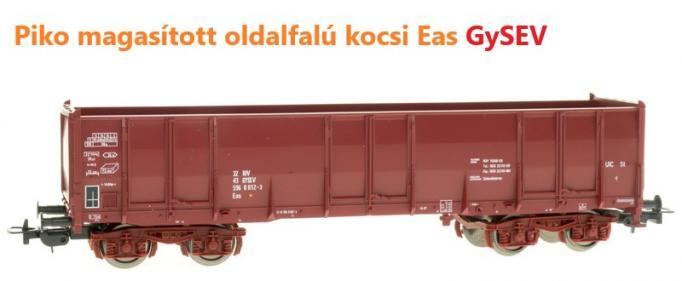 Piko 58756 Magasított oldalfalú kocsi Eas, Gysev VI