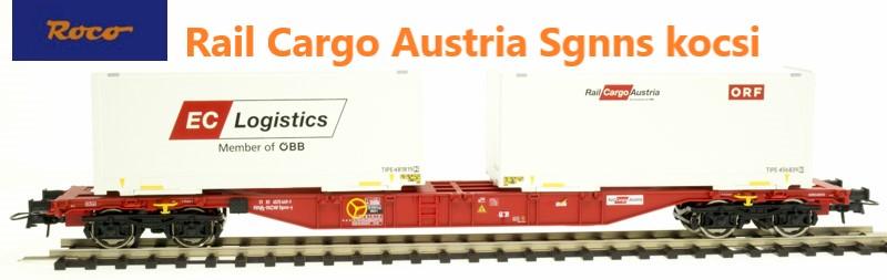Roco 76933 Konténerszállító kocsi Sgns, ORF/EC Logistics, Rail Cargo Austria, ÖBB VI