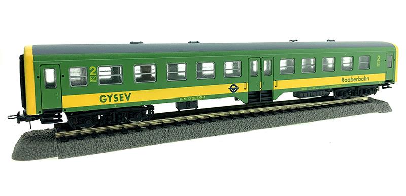 QuaBLA 21222 Személykocsi 2.o. Bh, 20-07 304-9, GySEV VI