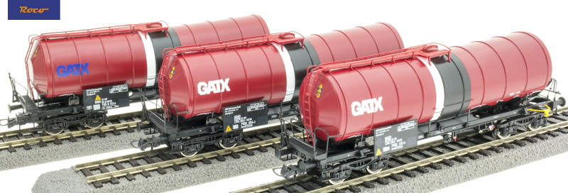 Roco 76088 Tartálykocsi szett Zaes, GATX VI