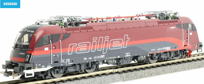 PIKO 59916 Villanymozdony Taurus Rh 1216 020-8 Railjet, ÖBB VI