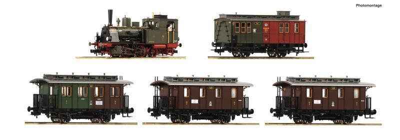 Roco 61475 Vonat szett Jahreszug 2019, T3 gőzmozdony személykocsikkal, K.P.E.V. I