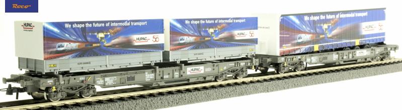 Roco 76198 Zsebeskocsi szett (RoLa) Sdkmms, HUPAC 50 years, HUPAC VI