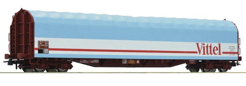 Roco 76453 Eltolható oldalfalú ponyváskocsi Rils, Vittel, SNCF IV-V