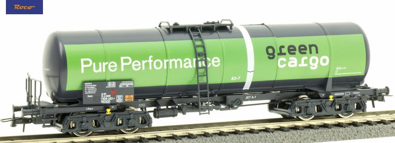 Roco 76698 Tartálykocsi fékhíddal Zacns, Pure Performance, Green Cargo VI