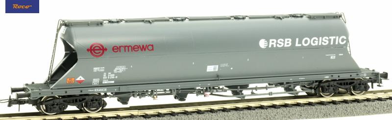 Roco 76707 Poranyagszállító silókocsi Uacs, ERMEWA, RSB-Logistics VI