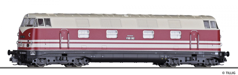 Tillig 02675 Dízelmozdony V 180 082, DR III