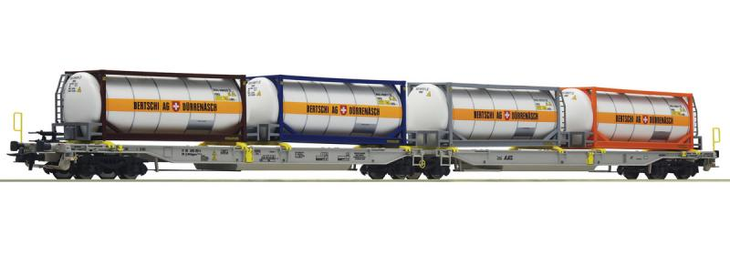 Roco 76438 Dupla konténereskocsi T2000+Bertschi