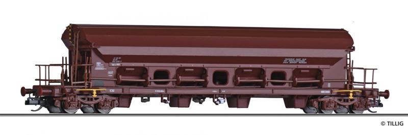 Tillig 15362 Szétnyíló tetejű kocsi Tads-y 5824, DR IV