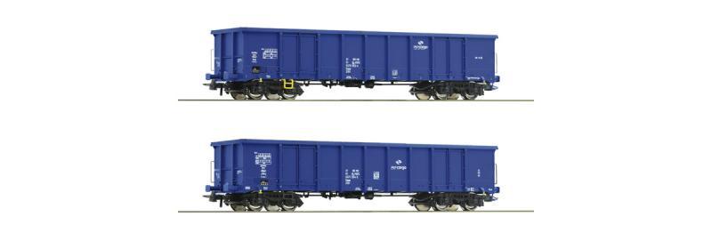 Roco 76044 Nyitott teherkocsi szett Eanos, PKP VI