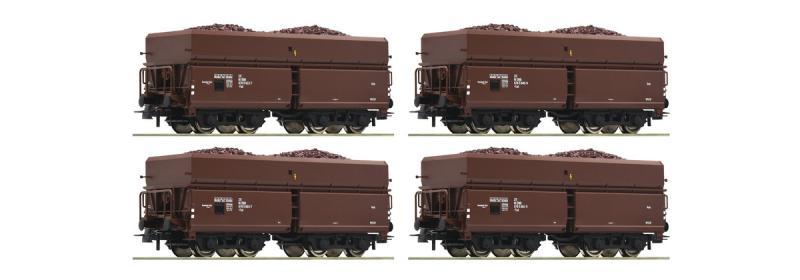 Roco 76063 Ércszállító teherkocsi szett rakománnyal, Fad, ÖBB III-IV