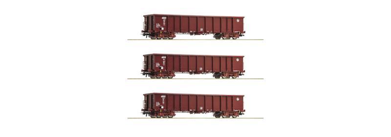 Roco 76091 Nyitott teherkocsi szett Eanos, HZ Cargo VI