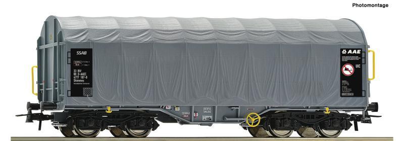 Roco 76442 Eltolható oldalfalú ponyváskocsi Shimmns, SSAB, AAE VI