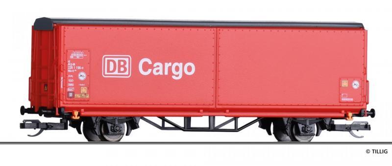 Tillig 14843 Eltolható oldalfalú kocsi Hbis-tt 293, DB Cargo V