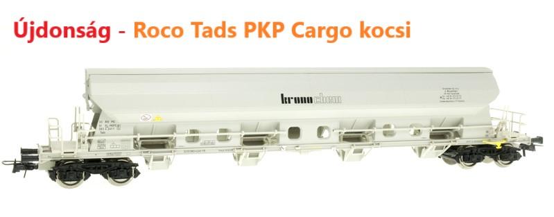 Roco 76410 Szétnyíló tetejű kocsi Tads, PKP Cargo VI