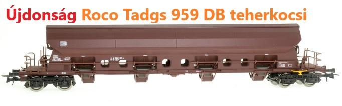 Roco 66370 Szétnyíló tetejű kocsi Tadgs 959, DB IV