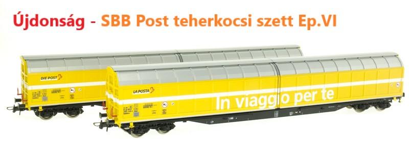 Roco 76153 Zárt teherkocsi szett, postavagon, Post, SBB VI