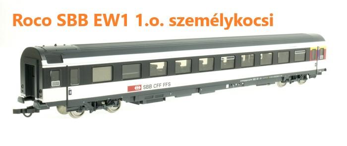 Roco 74394 Személykocsi EW1 1.o., SBB VI