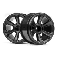 HPI 115327 6-SHOT MT WHEEL (BLACK/2PCS)