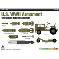 Academy 12291 1/48 US WWII Armament w/Ground Service Equipment