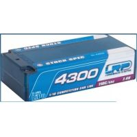 LRP akkupack LiPo 4300mAh 7,4V 110C Shorty stock spec