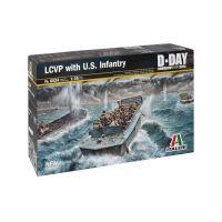 Italeri 6524 LCVP with US INFANTRY