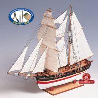 St. Helena vitorlás, fa hajó makett