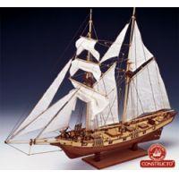 Albatros vitorlás, fa hajó makett