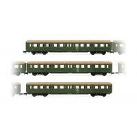 "Arnold HN4246 3db set Személykocsi ""Lowa E5"", livery green with brown roof"