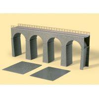 Auhagen 11344 Vasúti híd, 3 főpillér és oldalpillérek