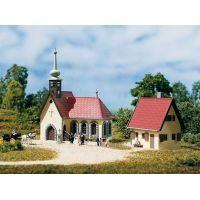 Auhagen 14461 Falusi templom és plébánia /Dorftemplom mit Pfarrhaus/