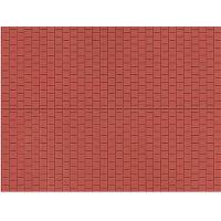Auhagen 52424 Dekorlap, térkő, vörös, 100 x 200 mm