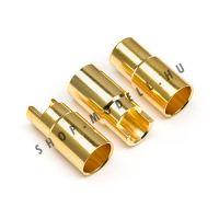 Csatlakozó arany anya 6mm 3db