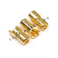 Csatlakozó arany apa 6mm 3db