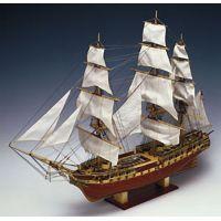 U.S.S. Constitution fa hajó makett