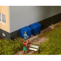 Faller 180914 Kék szemetes konténerek, 2 db