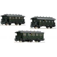 Fleischmann 481804 Személykocsi szett 'Nebenbahn-Personenzug'  #1, DRG II