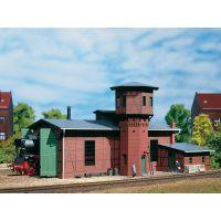 Auhagen 11400 Fűtőház (egyállásos), víztoronnyal