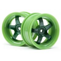 HPI 111090 Work Meister S1 Wheel Green (3Mm Offset/2Pcs)