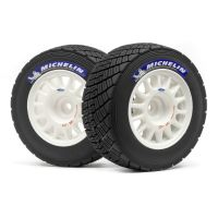 HPI 113850 WR8 RALLY OFF-ROAD WHEEL/TIRE SET (WHITE/2PCS)