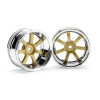 HPI 3321 RAYS GRAM LIGHTS 57S-PRO CHROME/GOLD (9mm OFFSET)