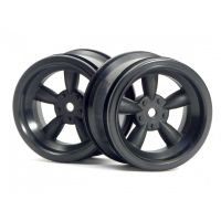 HPI 3821 VINTAGE 5 SPOKE WHEEL 31MM (WIDE) BLACK (6MM OFFSET)