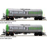 Tartálykocsi fékhíddal Zacns szett, Pannonia Ethanol, WASCOSA VI