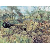 Italeri 6096 WWII- GERMAN PAK40 AT GUN & CREW