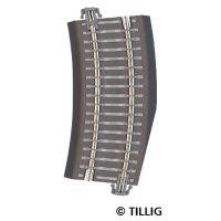 Tillig 83724 Ágyazatos íves sín, R22 kiegészítő ív 15'-os jobbos váltókhoz