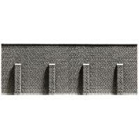 Noch 58056 Kőfal (támfal) támasztóoszlopokkal, 33,4 x 12,5 cm