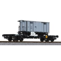 Liliput 235789 Nehézteher-szállító kocsi H0e tehervagon-rakománnyal (G 166, St.L.B. ) ÖBB IV-V
