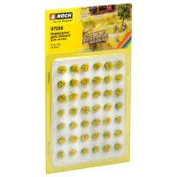 Noch 07036 Fűcsomók, sárga virág, 6 mm, 42 db