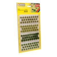 Noch 07127 Fűcsomók, világos- és sötétzöld, 6 mm, 104 db