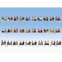 Noch 16072 Ülő figurák, utasok (láb és pad nélkül), 60 db